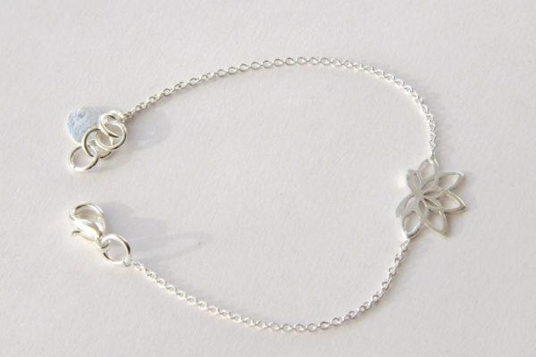 Tara Style Lotus Bracelet Silver